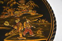 Antique Lacquered Chinoiserie Occasional Table (6 of 12)