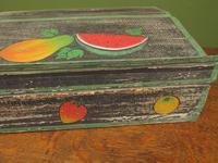 Shabby Chic Folk Art Painted Writing Slope Box with Fruit, Recipe Storage (6 of 14)