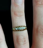 Antique Diamond Five Stone Ring, 18ct Gold, Edwardian (11 of 12)