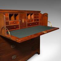 Antique Secretaire Cabinet, English, Chest of Drawers, Bureau, Desk, Georgian (8 of 12)