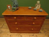 Victorian Wide Pine Chest of Drawers (7 of 11)