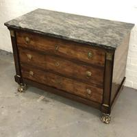 Lions paw French Empire marble top chest of drawers (7 of 10)