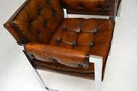 Pair of Vintage Leather & Chrome Armchairs (8 of 15)