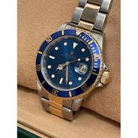 18ct Yellow Gold & Steel Rolex Submariner Blue Dial (4 of 6)