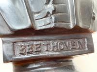 Classical Music Interest German Bronze Composer Ludwig Van Beethoven Bust Sculpture (12 of 25)