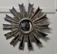 French Retro Sunburst Industrial Look Polished Mirror