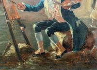 Late 18th Century 'British School' Original Oil Portrait Painting of a Shoreline Artist (7 of 12)