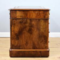 19th Century Victorian Burr Walnut Pedestal Desk (7 of 18)