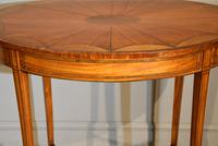 Late 19th Century Oval Satinwood Inlaid Table (2 of 6)