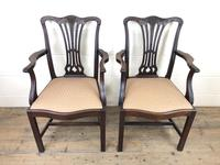 Pair of 19th Century Chippendale Style Armchairs (2 of 11)
