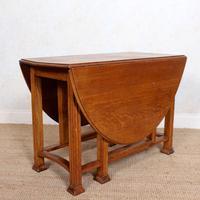 Oak Gateleg Dining Table Carved Solid Folding Kitchen Table (15 of 15)