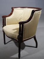 Finely Carved Edwardian Salon or Tub Chair (2 of 5)