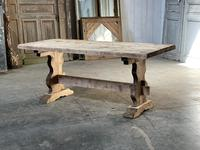 French Bleached Refectory Farmhouse Dining Table (2 of 21)