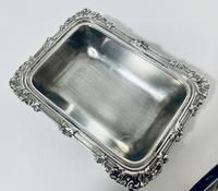 Antique Solid Sterling Silver Butter Dish & Cover (8 of 12)