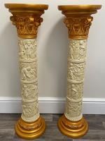 Dutch Golden Age Style Gilt Harvest Relief Plinth Display Torcheres (52 of 87)