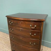 Small Edwardian Mahogany Antique Bow Fronted Chest of Drawers (2 of 8)