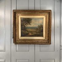 Antique Victorian landscape oil painting entitled View nr Epping signed B Fox (2 of 11)