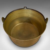 Antique Artisan Jam Pan, French, Solid Brass, Kitchen Pot, Victorian, Circa 1900 (8 of 9)