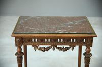 Antique French Walnut & Marble Table (5 of 8)
