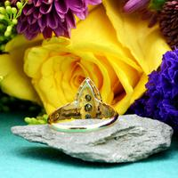 The Antique Edwardian 1905 Sapphire & Diamond Navette Gold Ring (5 of 7)