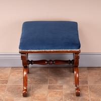 Good Quality 19th Century X-framed Rosewood Stool (3 of 10)
