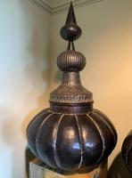 Very Substantial & Ornate pair of Lidded Storage Urns - North Africa (3 of 6)