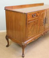 Burr Walnut Queen Anne Style Sideboard Server c.1930 (3 of 16)