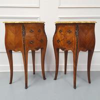 Beautiful Bombe shaped Bedside Cabinets c1930 (2 of 9)