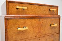 1930's Art Deco Burr Elm & Walnut Chest of Drawers (2 of 11)