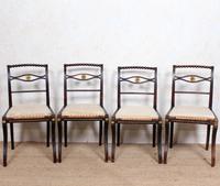 4 Regency Ebonised Dining Chairs Trafalgar