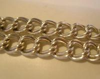 """Vintage Sterling Silver Bracelet 1976 Double Curb With Heart Padlock 7 1/2"""" Length (7 of 11)"""