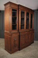 Large French Oak Breakfront Bookcase (11 of 19)
