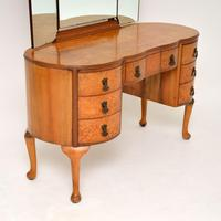 Queen Anne Style Burr Walnut Dressing Table c.1930 (4 of 9)
