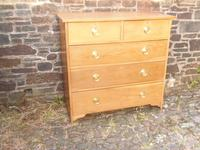 Arts & Crafts Oak Chest of Drawers (10 of 14)