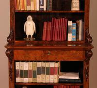Open Bookcase in Burl Walnut - 19th Century (5 of 13)