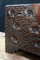 Early 20th Century Oriental Carved Teak and Camphor Wood Chest (4 of 11)