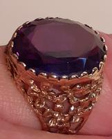 9 Carat Gold Ring with amethyst coloured stone (2 of 2)