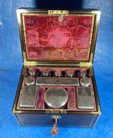 Georgian  Rosewood Brassbound Vanity Box (15 of 34)