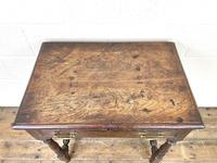 18th Century Antique Oak Side Table with Drawer (3 of 10)