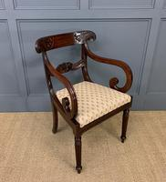 Excellent Pair of Regency Mahogany Scroll Armchairs (13 of 17)