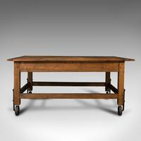Antique Boulangerie Table, French, Pine, Shop, Bakery, Display, Victorian c.1880 (6 of 12)