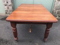 Antique Golden Oak Wind Out Extending Dining Table (10 of 11)