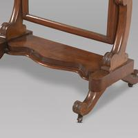Victorian Arched Top Mahogany Cheval Mirror (2 of 4)