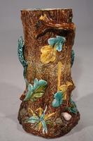 Mid 19th Century Lica Pottery Stick Stand in the Form of a Tree Trunk (2 of 4)