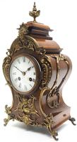 Magnificent French 8-day Mantle Clock Walnut Boulle Striking Mantle Clock (2 of 11)