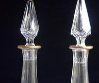 Pair of St Louis Crystal Liqueur Decanters Belle Epoque (6 of 7)