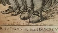 Original 18th Century Print by Robert Dighton, A Master Parson and His Journeyman, 1812 (2 of 9)