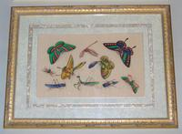 Fine Antique Pair of Chinese Paintings Butterflies & Insects on Pith (5 of 10)