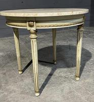 French Round Marble Top Coffee Table (6 of 15)