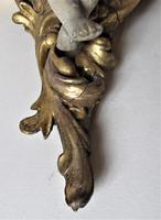 Italian 18th Century Carved and Gilded Shelf Bracket with Plaster Putto, ex Country House (2 of 8)